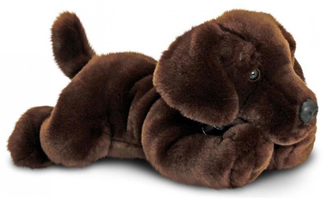 Pluche labrador puppy bruin 35 cm