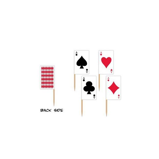 Poker cocktailprikkers 50 stuks