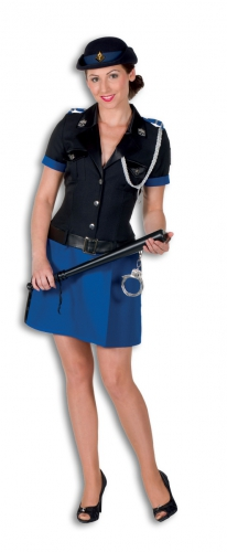 Politie kostuum polyester voor dames