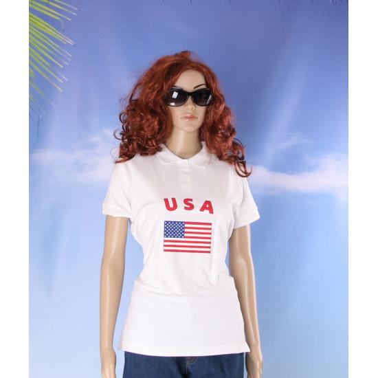 Polo met USA vlag print