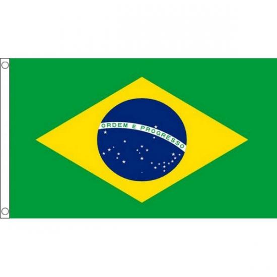 Polyester mega vlag Brazilie 150 x 240 cm