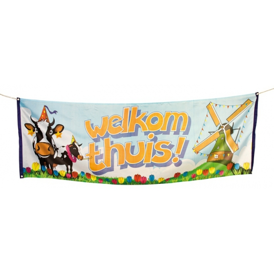 Polyester Welkom Thuis banner
