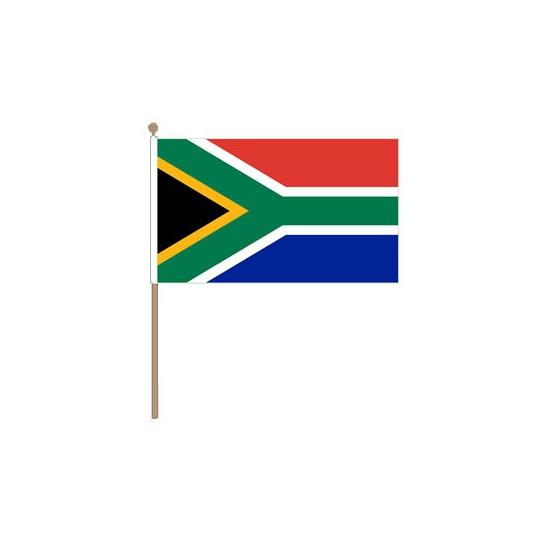 Polyester Zuid Afrika vlag met stokje