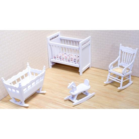Poppenhuis kinderkamer meubel set