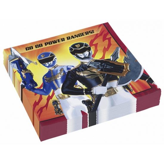 Power Rangers feest servetten 20 stuks