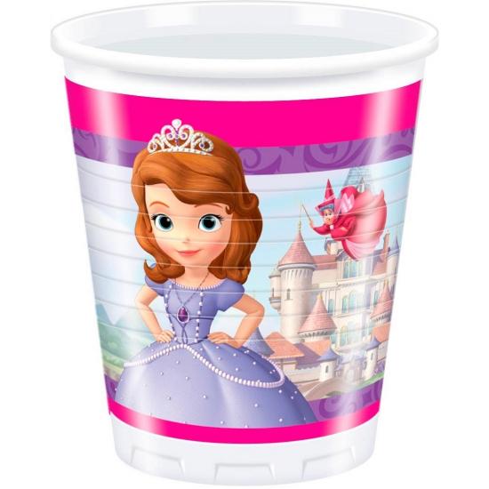 Prinsesje Sofia bekers 8 stuks