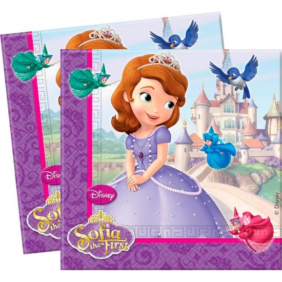 Prinsesje Sofia servetten 8 stuks