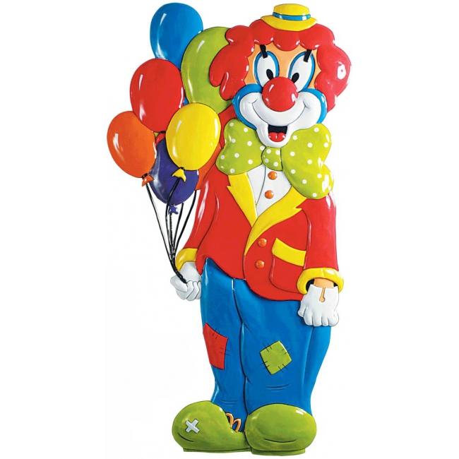 PVC clown met ballonnen 1 meter