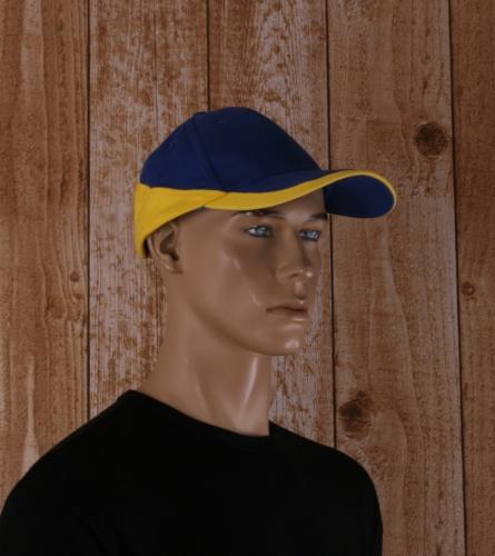 Racing pet blauw met geel