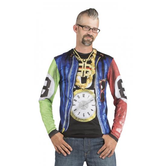 Rapper t shirt met lange mouwen