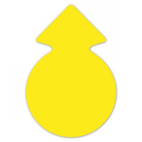 Reclame cirkel pijlen neongeel 23 cm