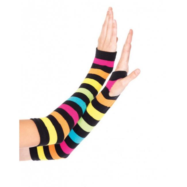 Regenboog handschoenen gestreept
