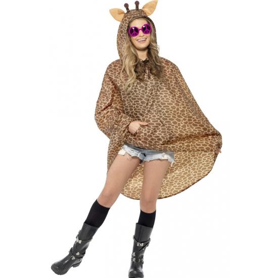 Regenponcho giraffe