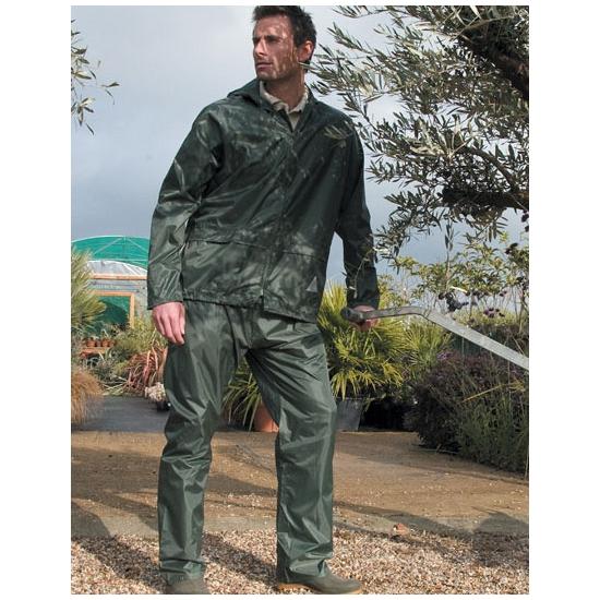 Result groene regenjas met broek voor volwassenen