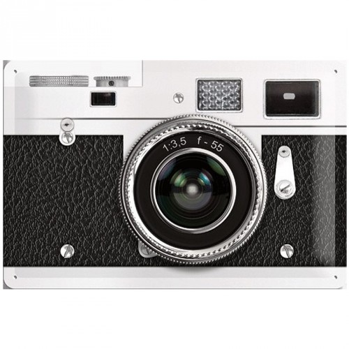 Retro muurplaat Camera 20 x 30 cm