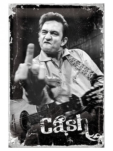 Retro muurplaat Johnny Cash 20 x 30 cm