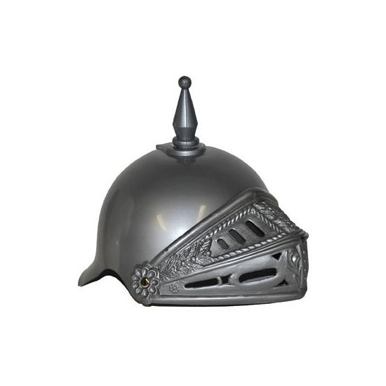 Ridder helm zilver met vizier
