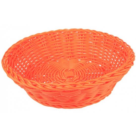 Rieten mandje oranje 25 cm