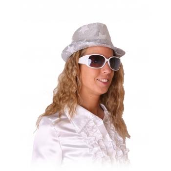 Rock en roll brillen wit met glitters