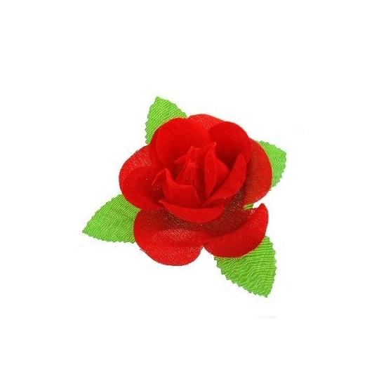 Rode bloemen corsage