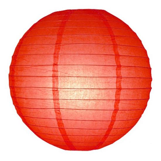 Rode bol lampion 25 cm