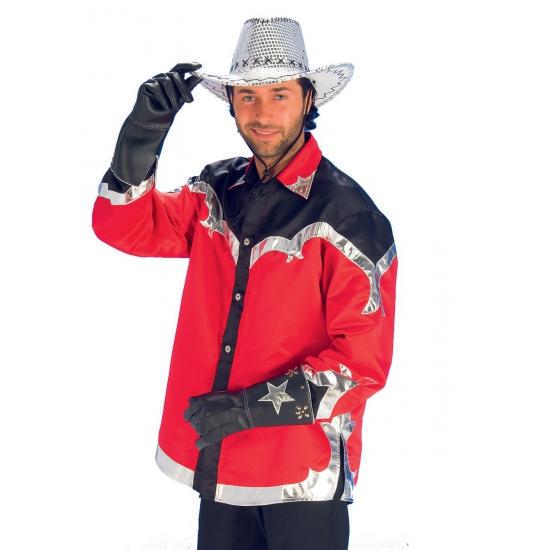 Rode cowboy overhemden