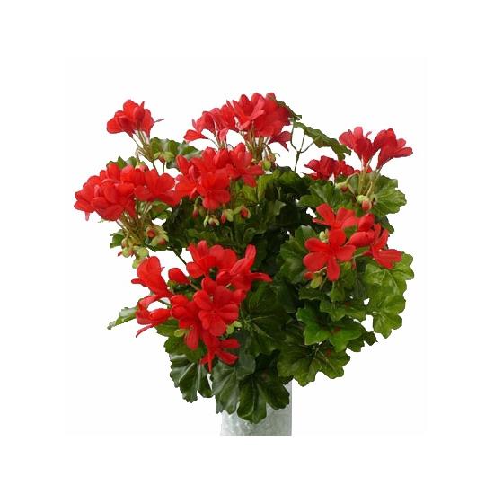 Rode geranium kunstplant 40 cm