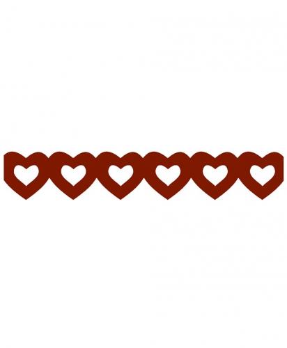 Rode hartenslinger van papier