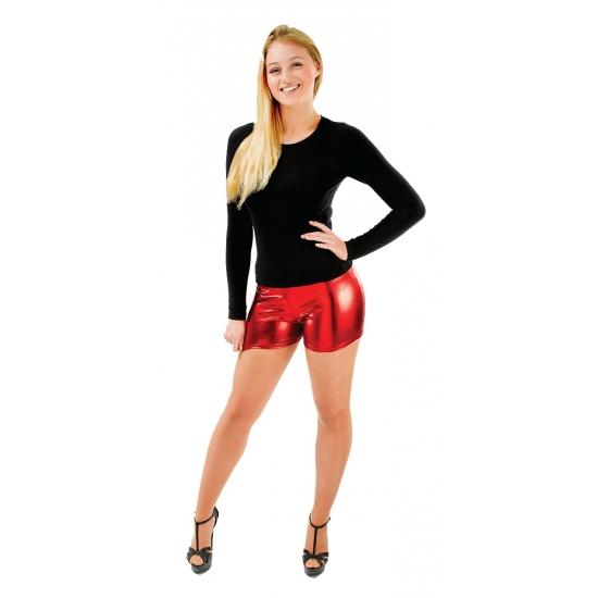 Rode hotpants dames