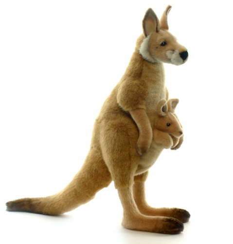Rode kangaroe knuffeldieren