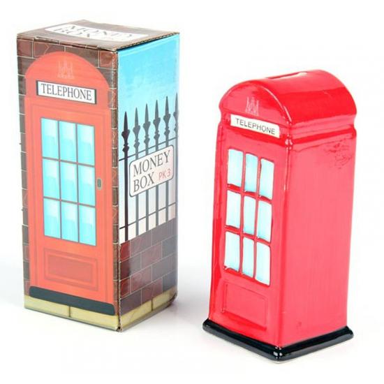 Rode Londen telefoon cel spaarpot