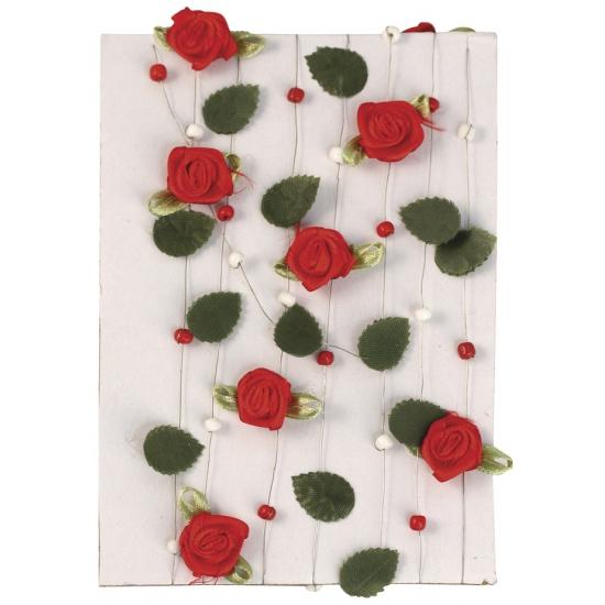 Rode roosjes aan slinger 2 meter