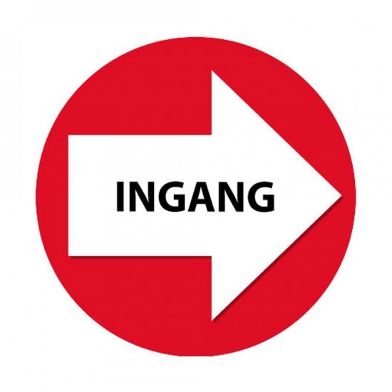Rode route aanduiding stickers Ingang