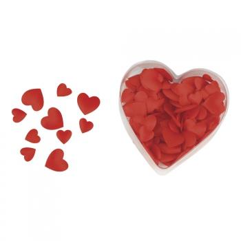 Rode satijnen valentijns strooihartjes
