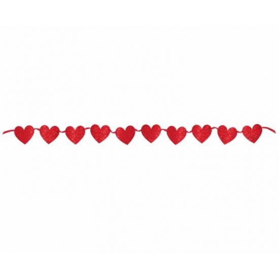 Rode Valentijnsdag slinger 365 cm