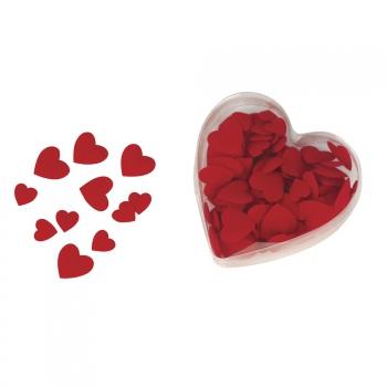 Rode velours valentijns strooihartjes