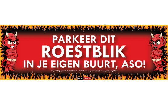 Roestblik Sticky Devil sticker