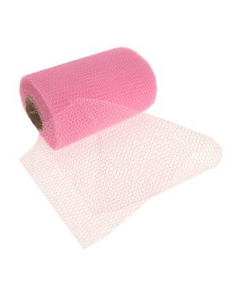 Rol met roze gaas stof 32 meter