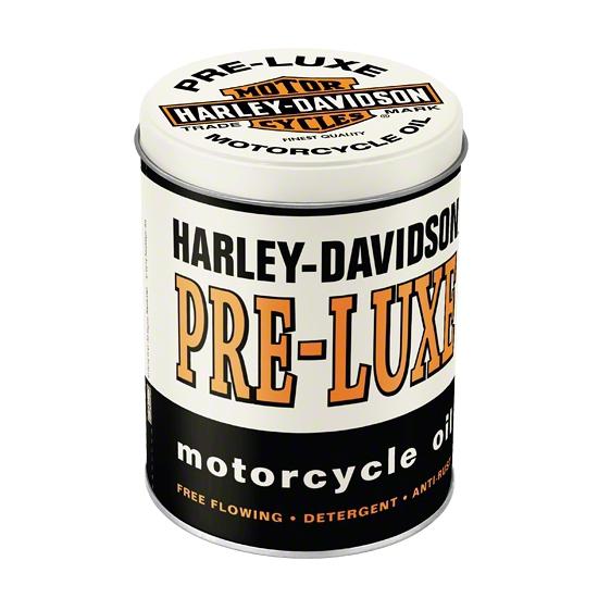 Rond bewaarblik Harley Davidson motor olie 13 cm
