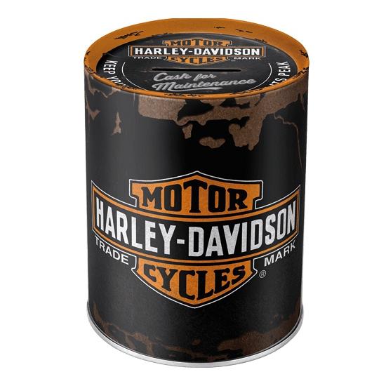 Ronde spaarpot Harley Davidson 13 cm