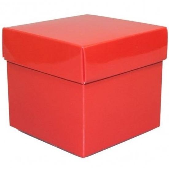 Rood decoratie doosje 10 cm