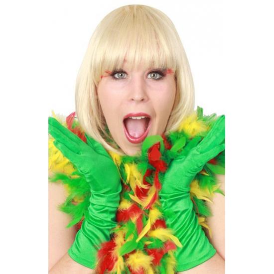 Rood/geel/groen carnavals boa