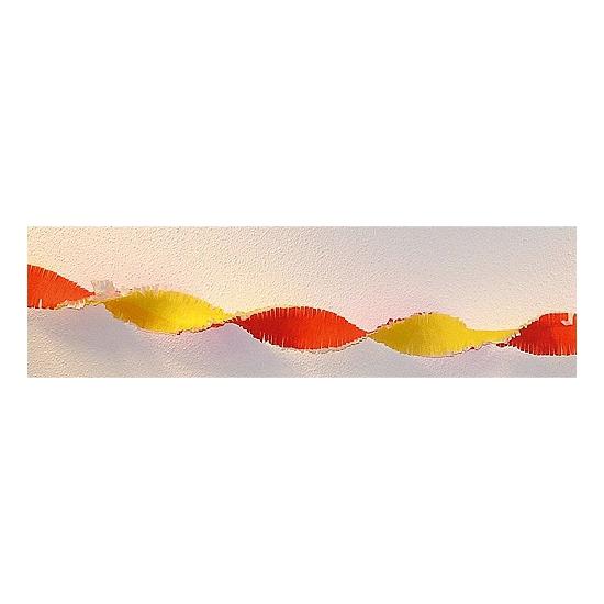 Rood / gele crepe papier slinger 30 meter