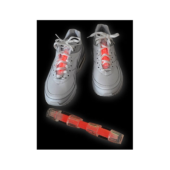 Rood glow schoen lichtstaafje