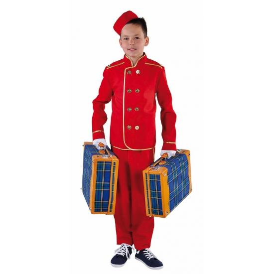 Rood hotelbediende pak voor kinderen