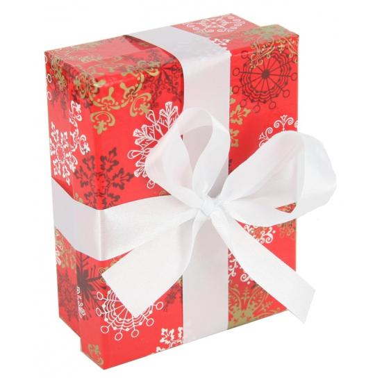 Rood kerst inpak doosje 14 cm