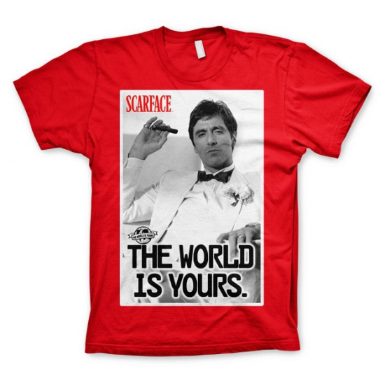 Rood Scarface The world is Yours t shirt