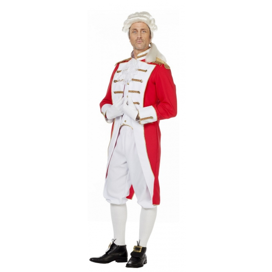 Rood wit presentator kostuum