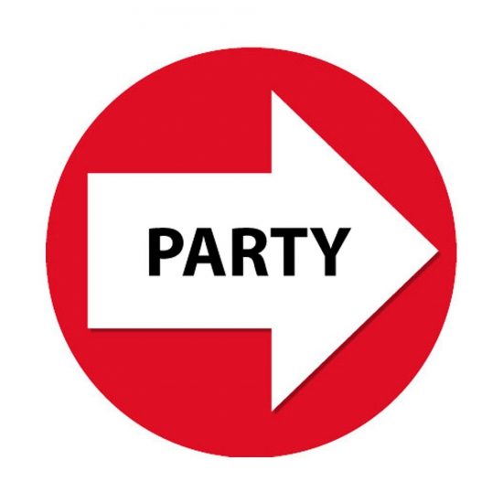 Route aanduiding stickers party rood