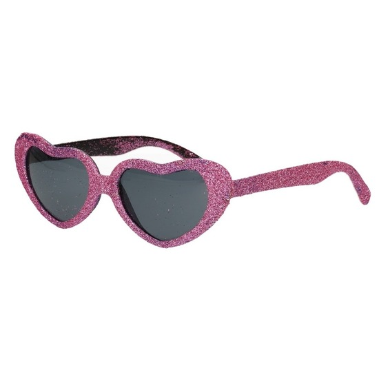 Roze bril met hartjes